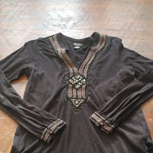 Lucky brand black tunic
